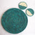 Decorative Green Woven Placemat and Coasters Set - Made with Natural Fibre | KalaGhar
