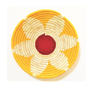Multicoloured Woven Wall Basket - Set of 3 - Home Decor | KalaGhar