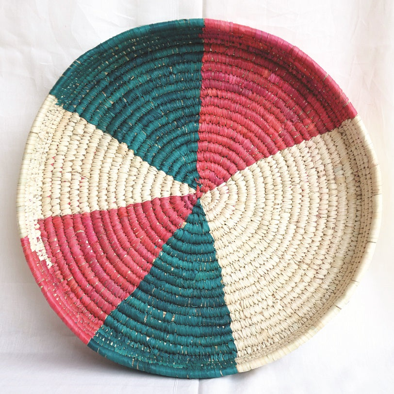 Patterned and Round Woven Fruit and Bread Basket | KalaGhar