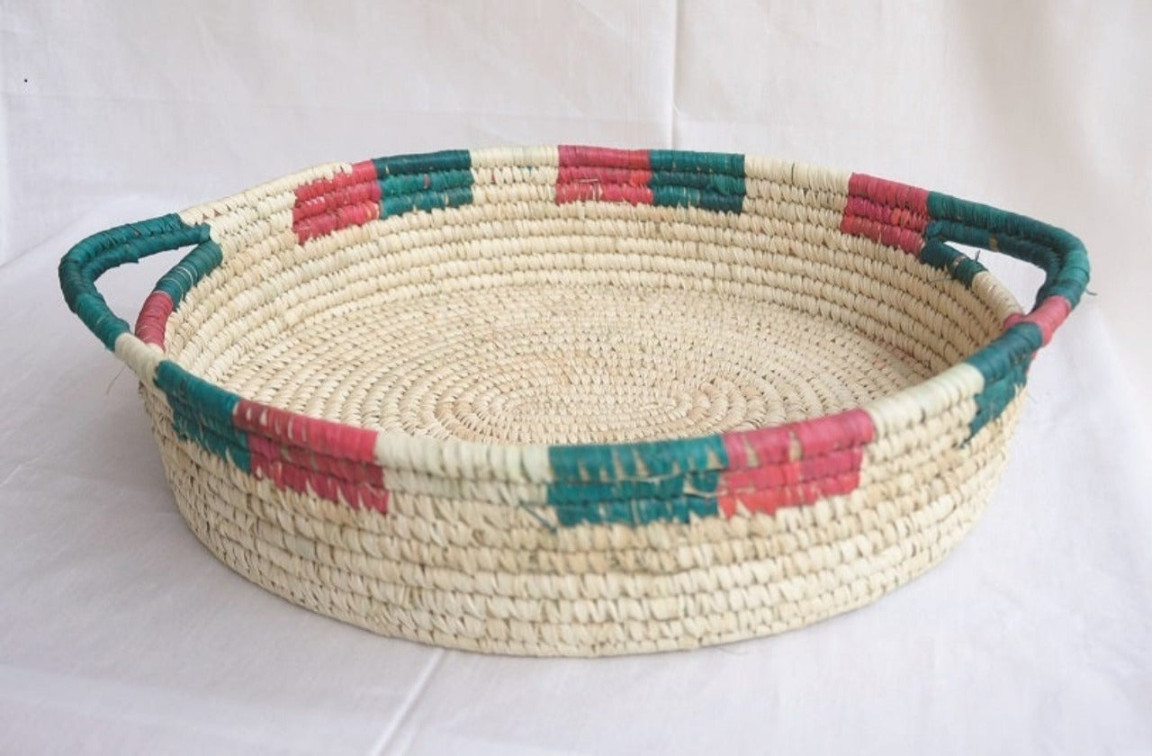 Patterned Woven Fruit and Bread Basket | KalaGhar