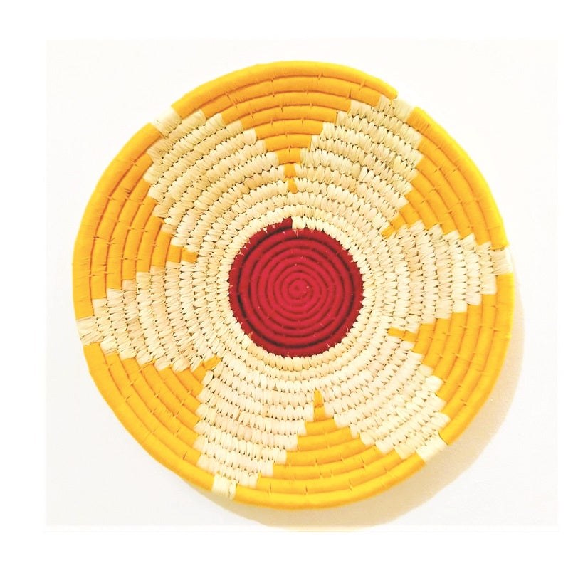 Multicoloured Woven Wall Basket | KalaGhar