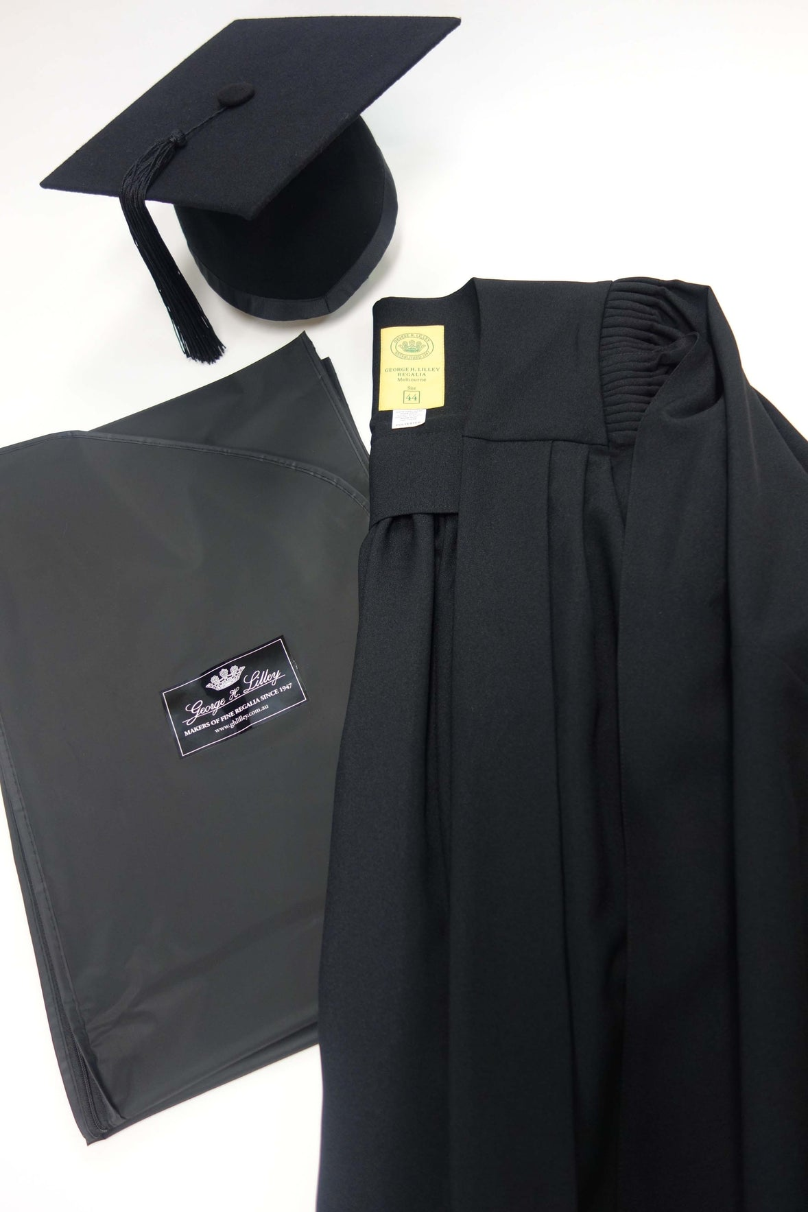 Master Graduation Gown and Mortar Board Set