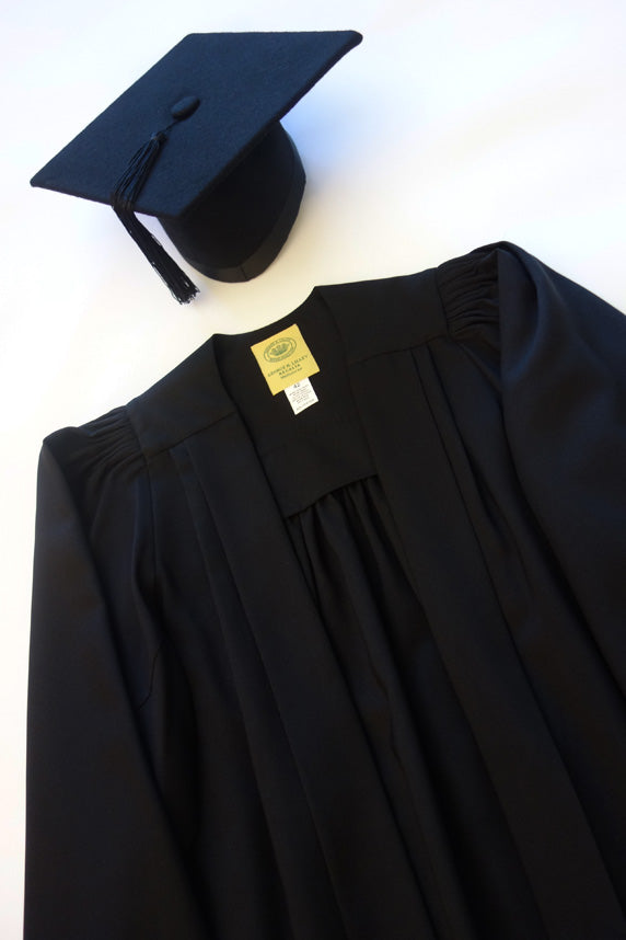 Bachelor Graduation Gown and Mortar Board Set