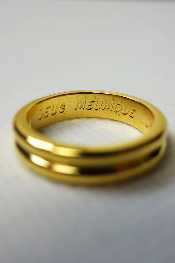 Australian Constitution 33rd Degree Gold Ring