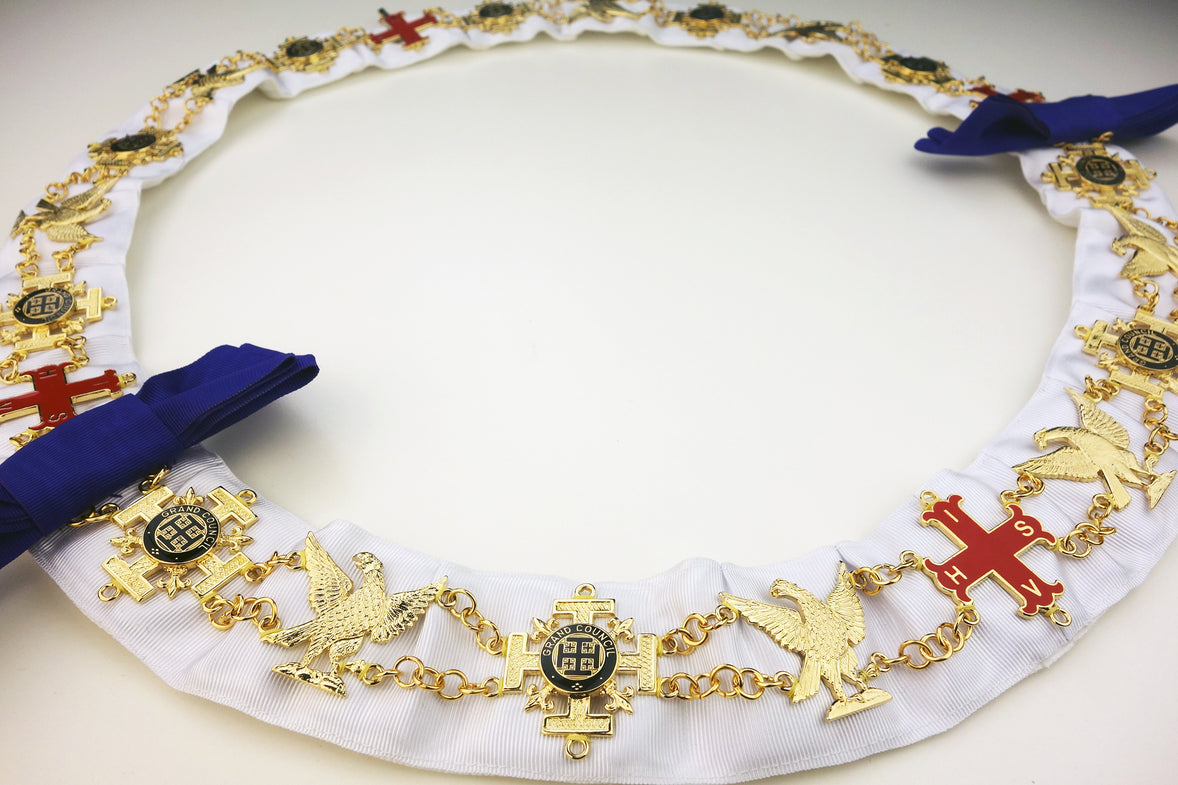 Red Cross of Constantine Chain Collar