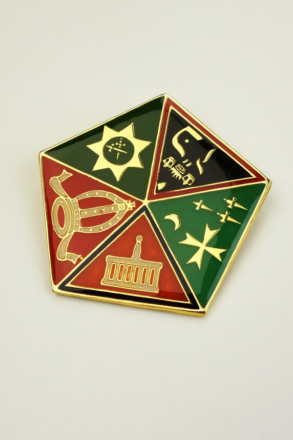Allied Masonic Degrees Pentagonal Pendant