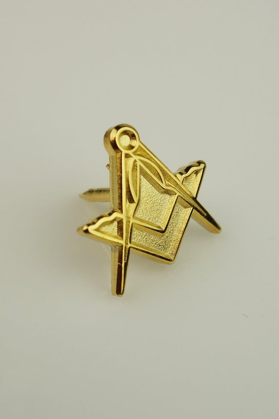 Masonic Lapel Pin Large Square & Compass 16mm