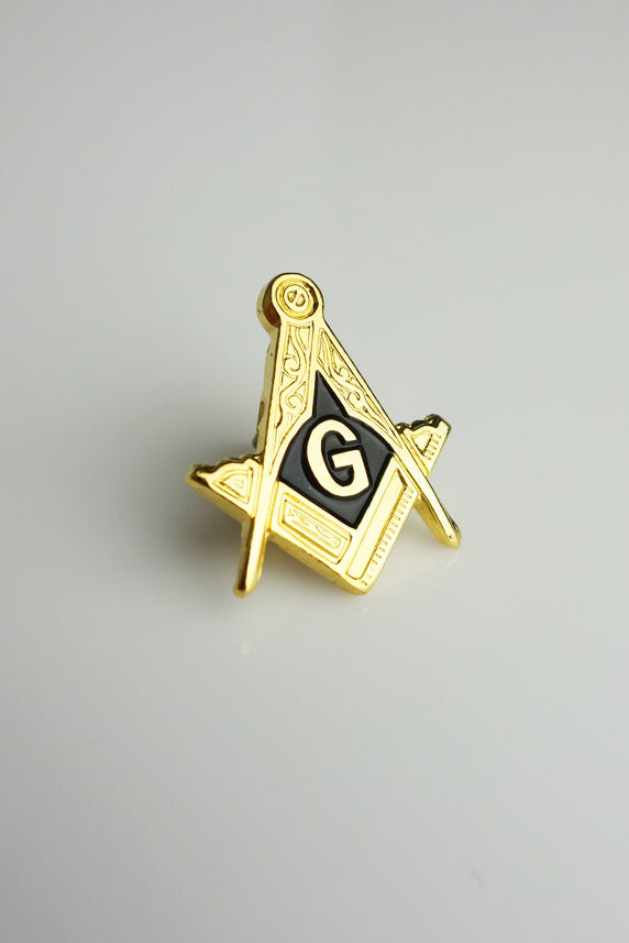 Masonic Lapel Pin Enamelled Square and Compass