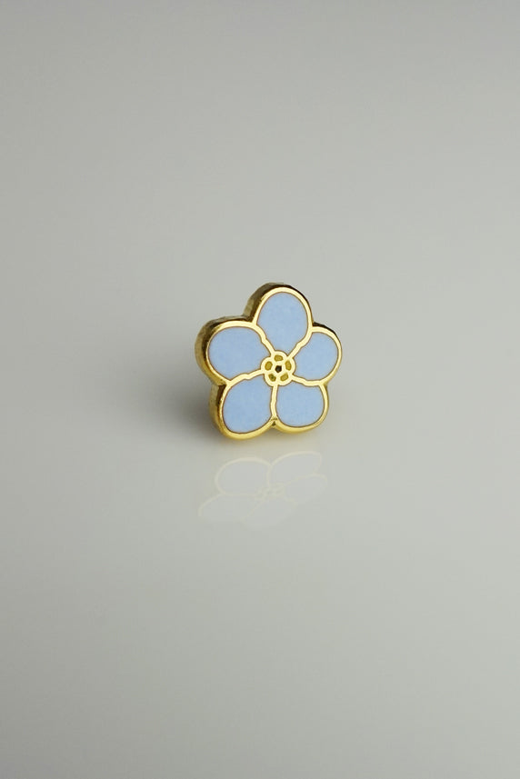 Masonic Lapel Pin Forget Me Not