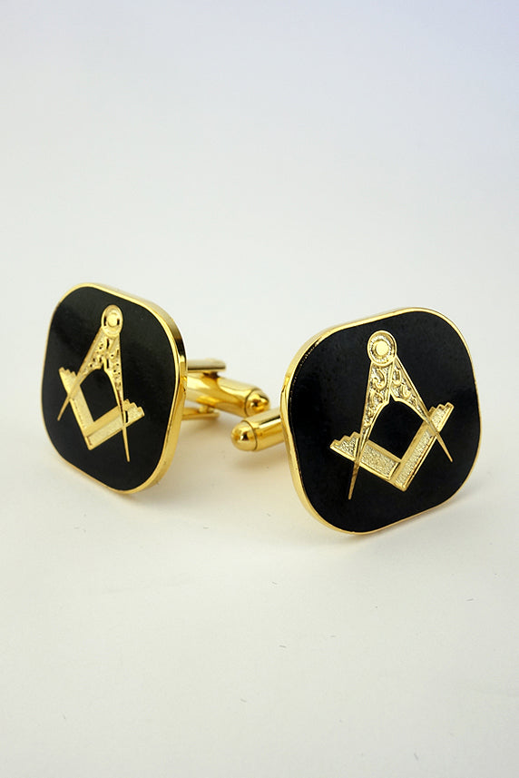 Masonic Cuff Links Black