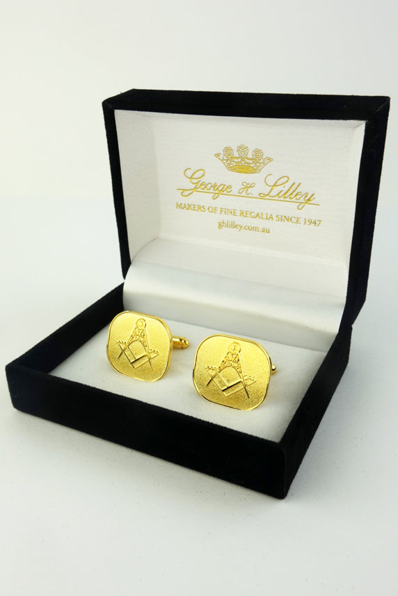 Masonic Cuff Links Gold