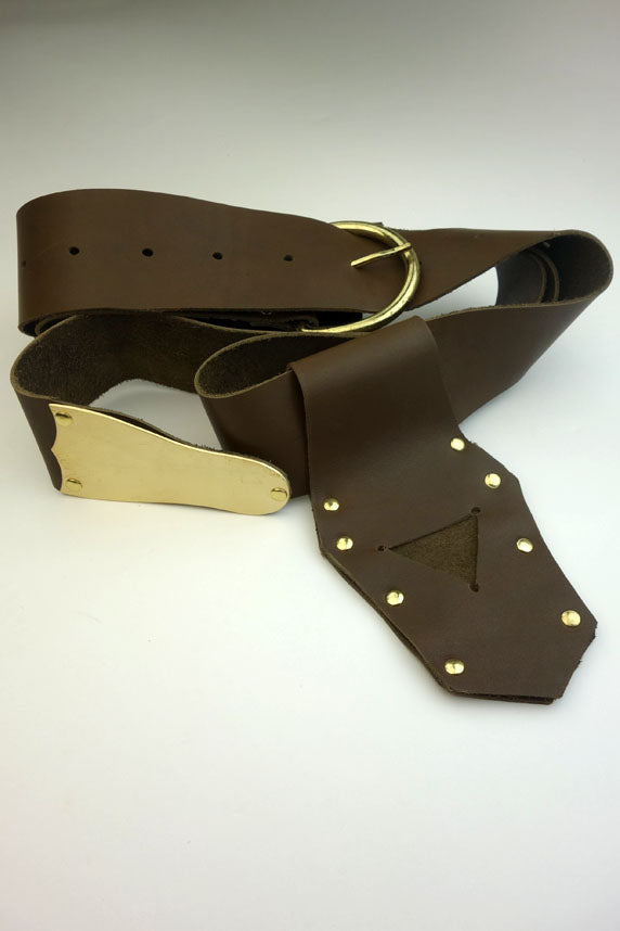Knights Templar and Knights of Malta Thick Leather Belt and Frog