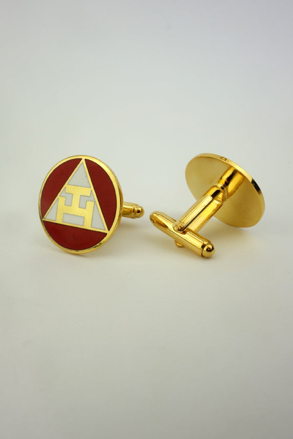 Masonic Cuff Links for Royal Arch Chapter