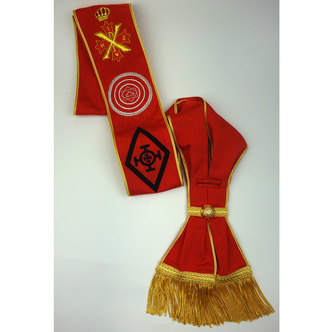 Red Cross of Constantine Knight Commander Sash