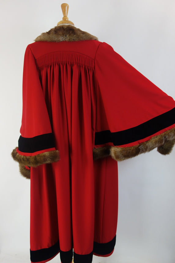 Velvet and Faux Fur Mayoral Robe