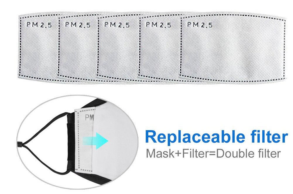 5 Pack of Mask PM 2.5 filters