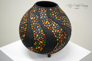 Small Mosaic Wave Gourd by Karen Fenwick