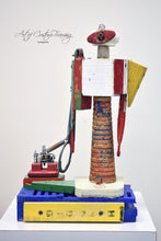 Load image into Gallery viewer, Red Eyed Robot by Joan Painter Jones