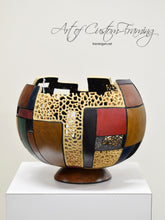 Load image into Gallery viewer, Geometric Multi-Colored Gourd by Karen Fenwick