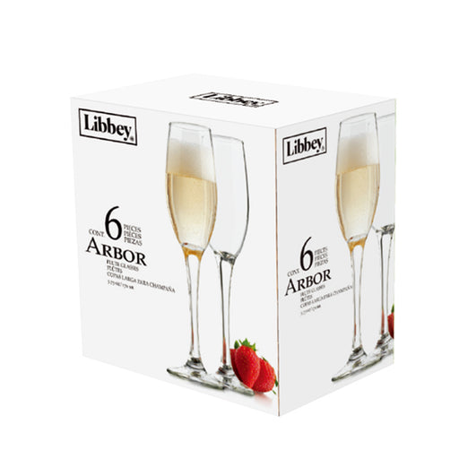 SET 6 COPAS ARBOR FLAUTA 170ML