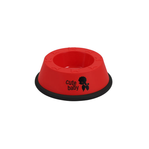 BOWL COLOR ROJO S MASCOTAS