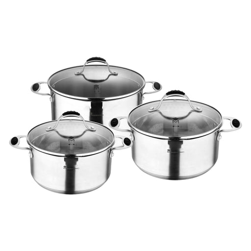 SET 6PZ ACERO INOX FOODIES