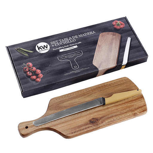 SET CUCHILLO + TABLA DE CORTAR