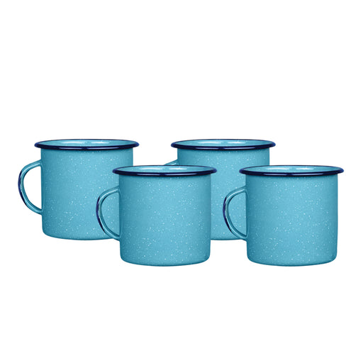 SET 4 TAZA RECTA 360ML AZUL TURQUESA