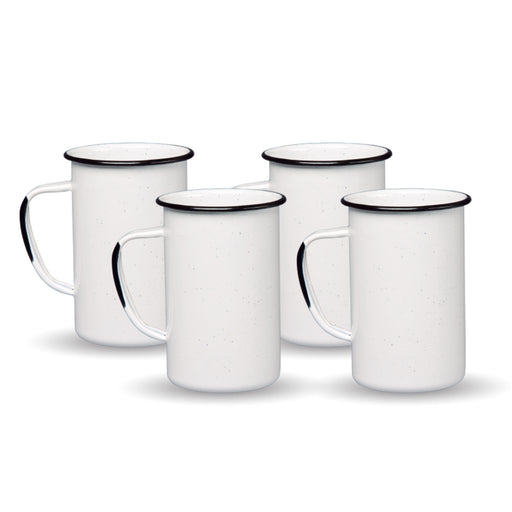 SET 4 TAZA RECTA 620ML BLANCO JASPEADO