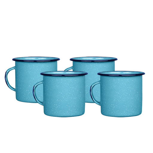 SET 4 TAZA RECTA 750ML AZUL TURQUESA