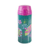 BOTELLA 350ML GEO FLOWER ACERO INOX