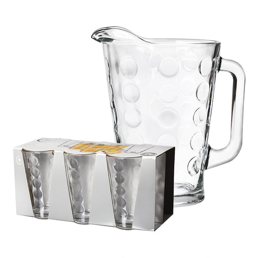 SET JARRA 1.77LT + VASOS EXCLAMATION
