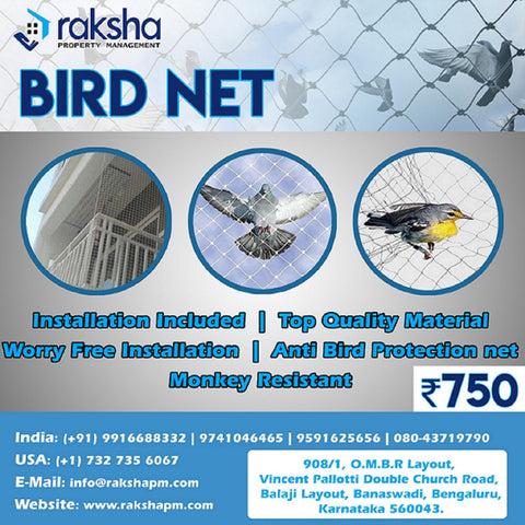 Anti-Bird Nets Installation
