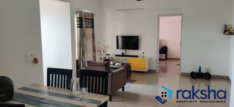 2 BHK Semi-furnished flat at SNN Raj Serenity. Rent Rs. 23,000/-
