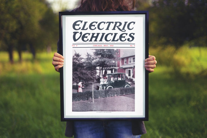 Remastered Electric Vehicles Magazine Covers and Maps