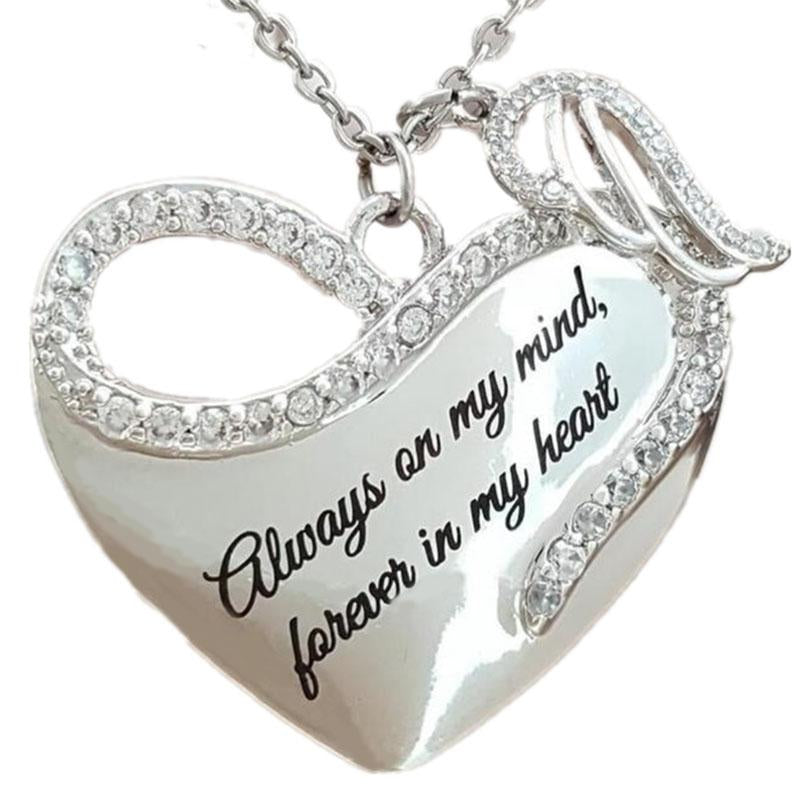 Wife Valentine Gift Birthday Gift Necklace Name Stronger Than Seem Smarter Than Think to My Iva Always Remember That I Love You Loved Than Know Love Husband Braver Than Believe