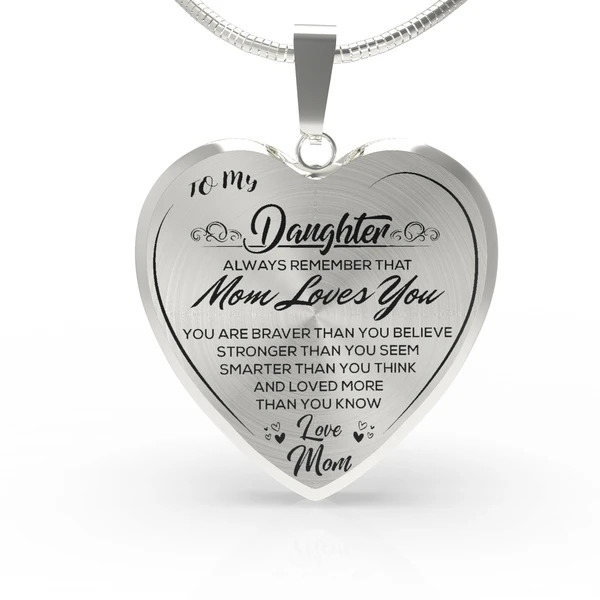 You are Braver Than You Believe for Mom Daughter Jewelry 18K Gold Plated Gifts Necklace Name for Wife to My Minnie Always Remember That Mommy Love You