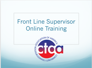 Front Line Supervisor Training