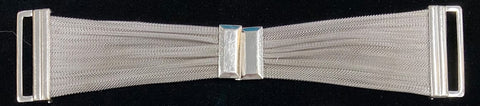 Art Deco silver mesh belt buckle
