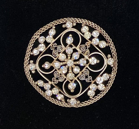 Diamante and filigree buckle