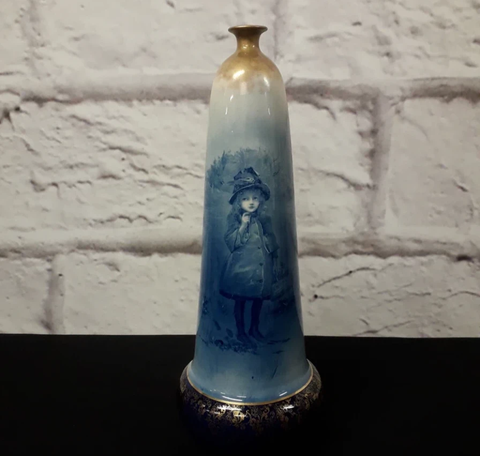 Royal Doulton 'Blue and White Children's Ware series bottle or lamp base