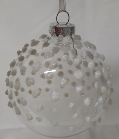 Glass Ball 'Snow drops'