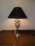 Silver-plated pineapple table lamp
