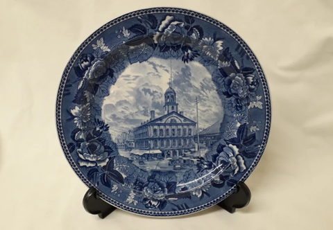 "Wedgwood Plate - ""Cradle of Liberty"" pattern"