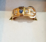 [COMING SOON] Edwardian 18ct gold, with sapphire and diamond Ring