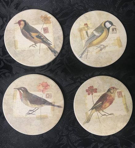 Round Bird Coasters (Pack of 4)