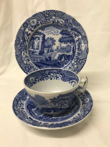 Copeland Spode blue and white Cup, Saucer & Plate