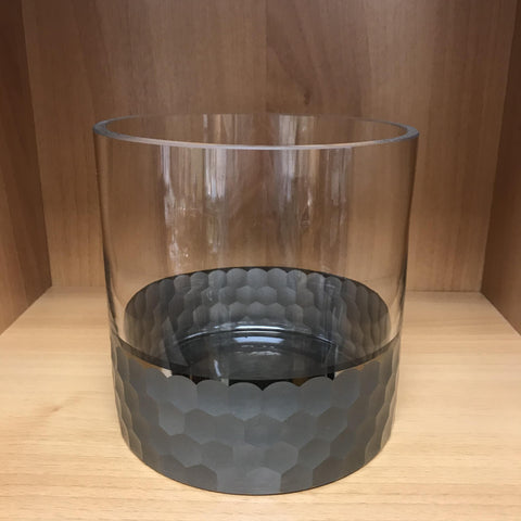 Black Honeycomb Glass Cylinder