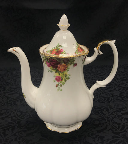 Royal Albert Coffee Pot 'Old Country Roses' pattern