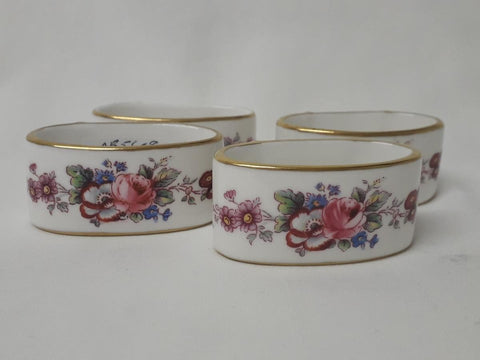 Napkin Rings - 'Derby Posies' pattern